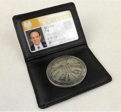 New Avengers Agents of S.H.L.E.L.D Shield Badge in Leather Wallet or Holder Case