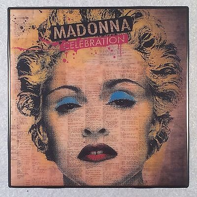 MADONNA Celebration Record Cover Art Ceramic Tile Coaster