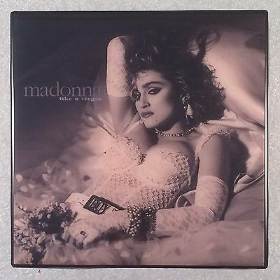 MADONNA Like A Virgin Ceramic Tile Art Coaster