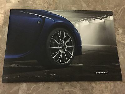 2015 Lexus RCF RC  8-page FOLD-OUT Original Sales Brochure