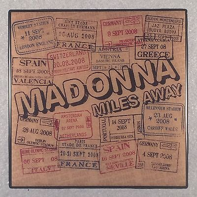 MADONNA Miles Away Record Cover Art Ceramic Tile Coaster