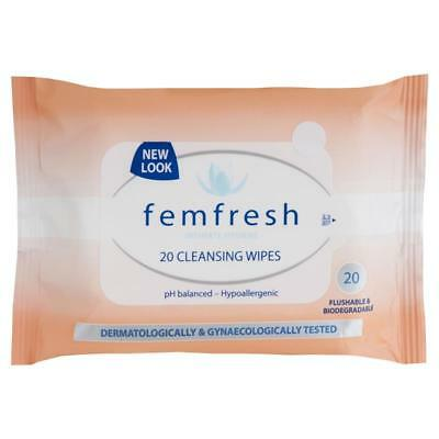 ツ Best Price! Femfresh Feminine Cleansing Wipes Ph Balanced Hypoallergenic 20 Pk
