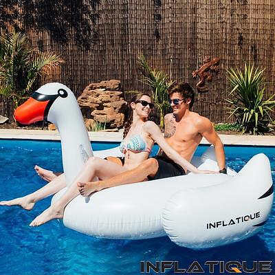 Giant Inflatable Swan | White Blow Up Ride On Pool Toy - Crazy $34.95 Price!