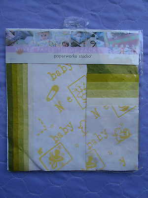 MIXED PAPER THEME PACK, 12 Assorted Fine Craft Papers, Scrapbooking, Origami NEW