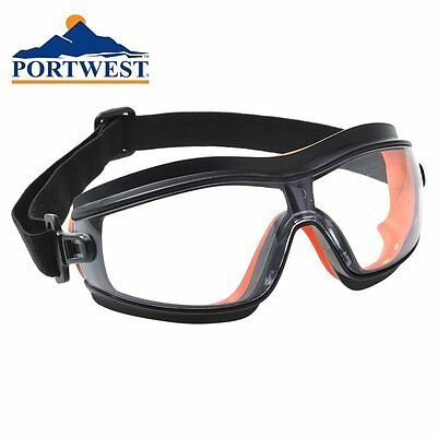 Portwest Light weight Safety Goggles soft seal wrap around eye protection PW26