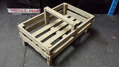 French Genuine Wooden Potato Pannier/ Trug Vegetable Basket Display Case Crate-