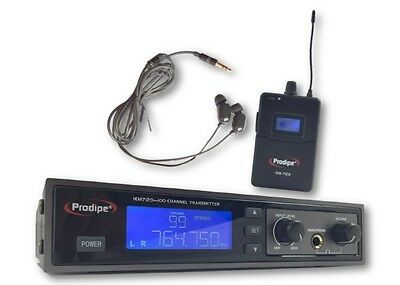 Ear Monitoring Prodipe UHF 100 Canaux - Retour Intra Auriculaire type Oreillette