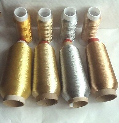 METALLIC Embriodery Threads Different sizes and Colours, High Quality