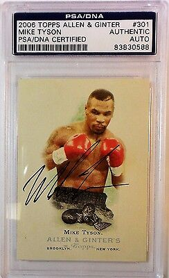 Mike Tyson Signed 2006 Topps Allen & Ginter Card PSA/DNA 83830588