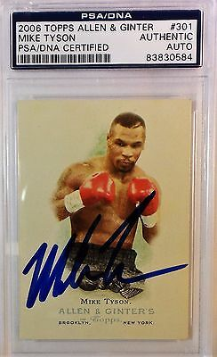 Mike Tyson Signed 2006 Topps Allen & Ginter Card PSA/DNA 83830584