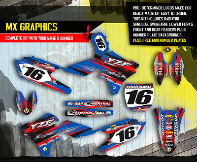 2014 2015 Yamaha Yz 250F / Yz 450F Graphics Kit Motocross Dirt Bike Decals