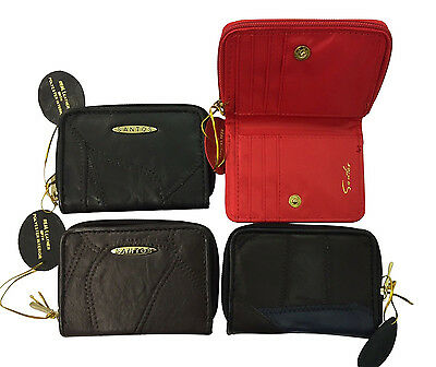 Ladies Womens Patchwork Leather Zip Purse Wallet Christmas Gift Rl1949