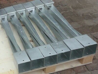 10 x 100mm GALVANISED FENCE POST SUPPORT SPIKES DRIVE DOWN TIMBER POST HOLDER