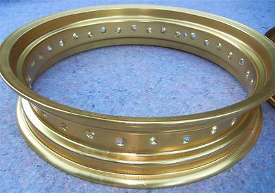 "WM6 x 17"" - 32 spoke DID gold motorcycle rim OEM Honda TransAlp Africa Twin more"