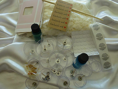 Candle Making Soy Wax Kit 20 x Maxi Light cups JUG Tins Boxes plus all you need.