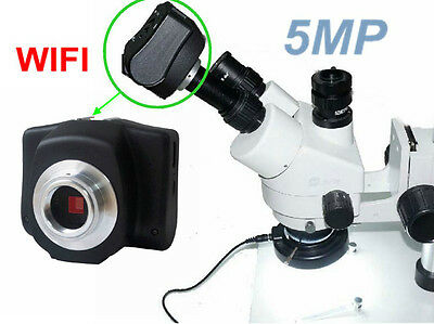 5MP HD WIFI Digital USB Microscope Electronic Eyepiece Camera Video W/ Adapter