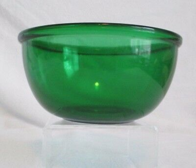 "Fire-King Anchor Hocking Forest Green 6"" Beaded Edge Mixing Bowl"
