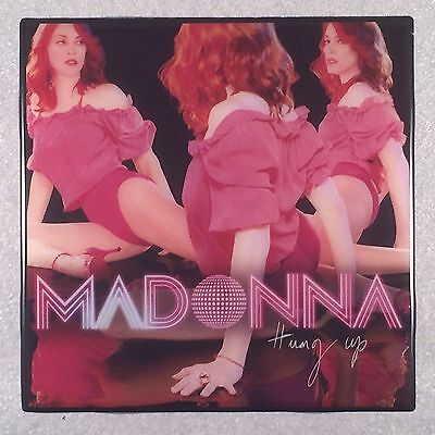 MADONNA Hung Up Record Cover Art Ceramic Tile Coaster