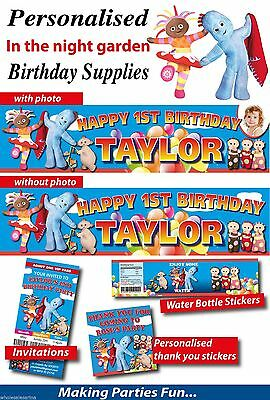 Personalised In the Night Garden Birthday Party Banner and Supplies