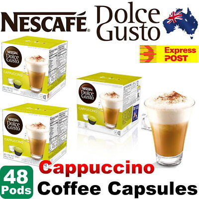 NESCAFE Dolce Gusto Coffee Capsules – Cappuccino - 48 Single Serve Pods -Express