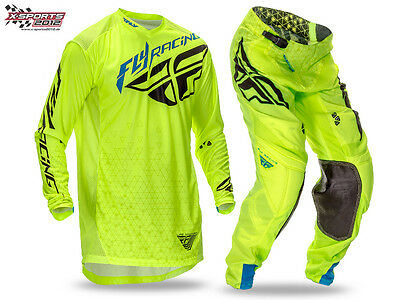 Fly Racing Lite Hydrogen Motocross Combo 2016 Neon MX Enduro Hose Jersey
