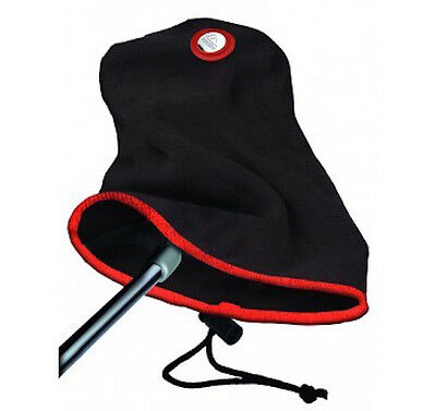 EZE Golf 2 in 1 Putter Towel & Head Cover with Golf Ball Marker