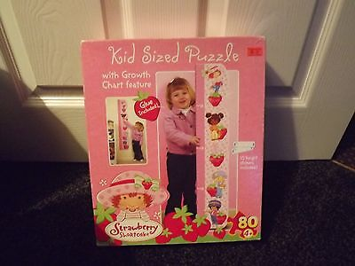 STRAWBERRY SHORTCAKE kids sized puzzel / height chart new boxed