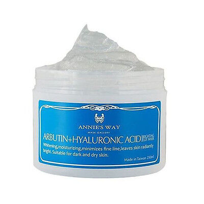 ANNIE'S WAY Arbutin+Hyaluronic Acid Brighting Jelly Mask 250ml NEW