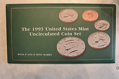 1993 Brilliant Uncirculated US Mint Set P & D in OGP  Excellent Condition
