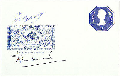 The Conquest of Mount Everest 25th Anniversary 1978 signed by Hunt and Tenzing.