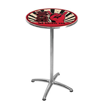*NEW* ACDC WE SALUTE YOU LICENSED BAR TABLE Man Cave - Matching stools in Store