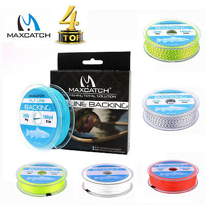 Maxcatch 20/30LB 100Yards Braided Fly Fishing Backing Line with Loop Connector