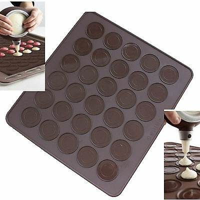 30 cavity Silicon Pastry Cake Macaron Macaroon Oven Baking Mould Sheet Mat