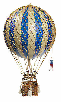 "Royal Aero, Blue 13"" Hot Air Balloon Hanging Aircraft Decor AP163D NEW"