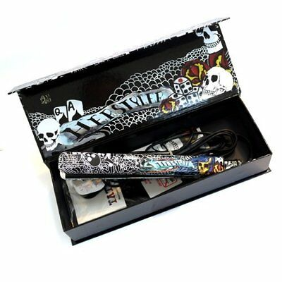 HerStyler Tattoo Black Ceramic Hair Straightener Dual Voltage