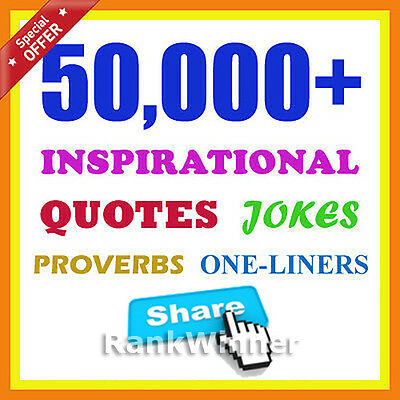 50000++ Great Quotes, Jokes to Share on Facebook Twitter G+ Email Website Blog