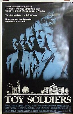 """Toy Soldiers Original 1991 Single Sided 27""""x40"""" Movie Poster """"Sean Astin"""""""