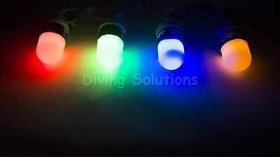 Night Dive Safety Beacon LED Light, 100 Meter Scuba Diving Freedive Spearfishing
