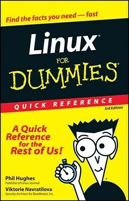 Linux for Dummies Quick Reference 9780764507601 by Phil Hughes, Paperback, NEW