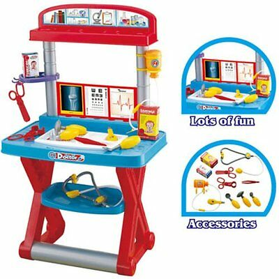 Children Kids Medical Set Doctor & Nurses Toy Role Play Table Set + ACCESSORIES