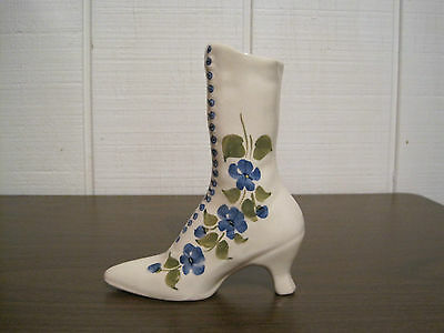 Vintage 1946 Clinchfield Artware Handpainted Pottery Boot By Cash Family