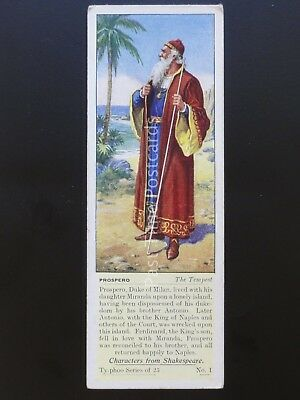 No.1 PROSPERO THE TEMPEST Characters from Shakespeare T25 by Typhoo Tea 1937