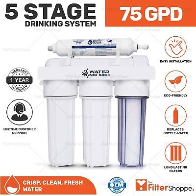 Replacement/Portable 5 Stage Reverse Osmosis Home Drinking Water System 75 GPD