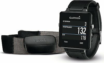 New Garmin Vivoactive GPS Smartwatch with Heart Rate Monitor (Black)