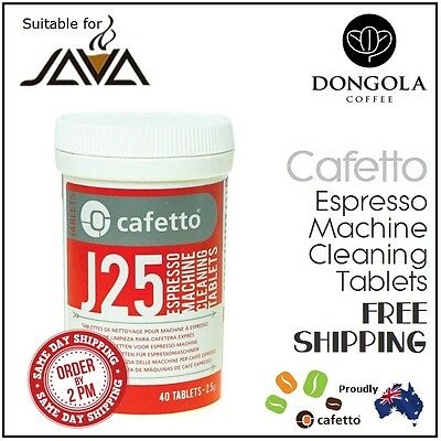 40 JAVA J25 Super Automatic Espresso Coffee Machine Cleaning Tablets Cafetto