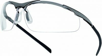 10 x Bolle CONTOUR Metal Frame Safety Glasses/Spectacles Clear Lens CONTMPSI