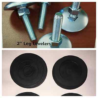 """Set of 4 Leg Levelers (2"""") AND 4 Rubber Feet **NEW** ~~FREE SHIPPING~~"""