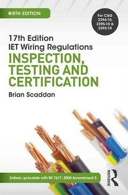 Iet Wiring Regulations: Inspection, Testing and Certification 9781138848863, NEW