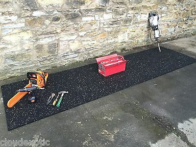 �� RUBBER Gym Mat COMMERCIAL Flooring 10/15mm EXTRA THICK garage workshop ��