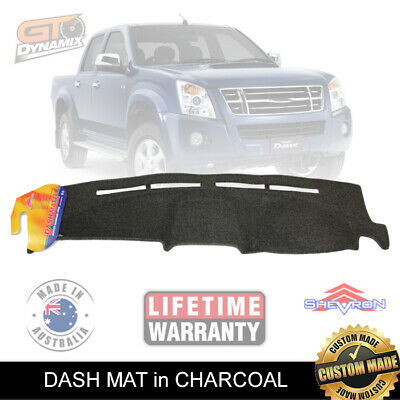 Dash mat for ISUZU D-Max 10/2008-5/2012 in CHARCOAL SX/LS/LSM/LSU10 DM1106 Dmax